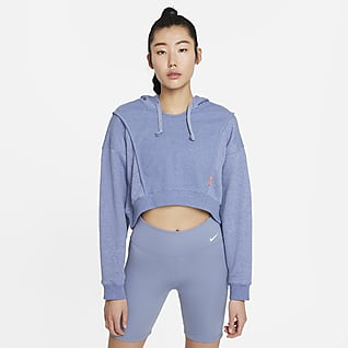 Nike Dri-FIT Women's Fleece Cropped Training Hoodie
