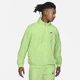 Nike Sportswear Heritage Windrunner Herenjack met halflange rits en capuchon