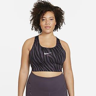 Nike Dri-FIT Swoosh Icon Clash Brassière de sport non rembourrée à maintien normal pour Femme (Grande taille)