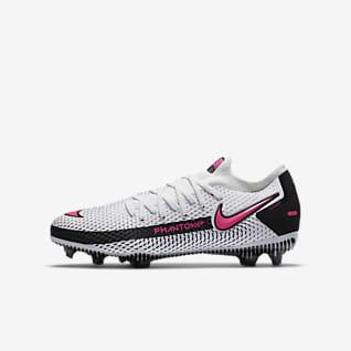 Nike Jr. Phantom GT Pro FG Fodboldstøvle til store børn (græs)