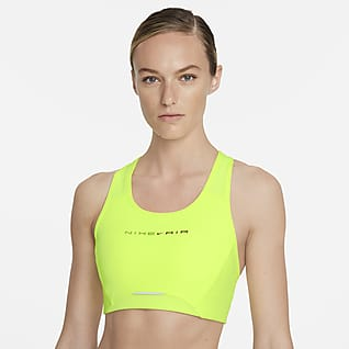 Nike Air Dri-FIT Swoosh Közepes tartást adó, fényvisszaverő női sportmelltartó egyrészes betéttel