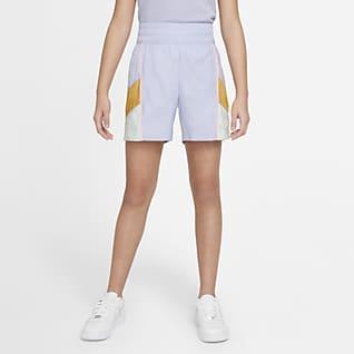 Nike Sportswear Heritage Shorts i vævet materiale til større børn (piger)