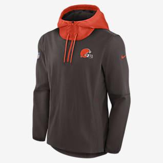 Nike Sideline Player (NFL Cleveland Browns) Chamarra con cierre de 1/4 para hombre