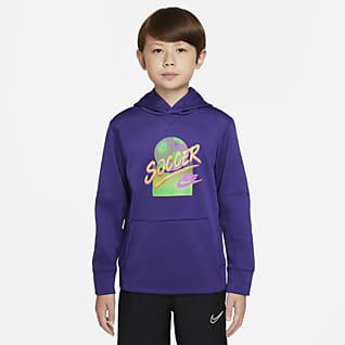 Nike Therma Sudadera con capucha para niños talla grande