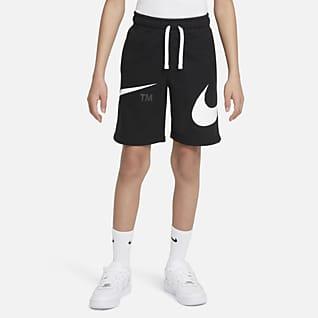 Nike Sportswear Swoosh Shorts para niño talla grande