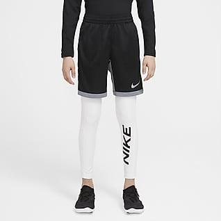 Nike Pro Warm Mallas de entrenamiento con estampado gráfico para niño talla grande