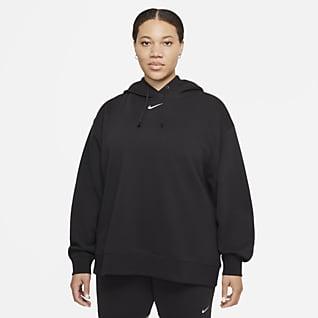 Nike Sportswear Collection Essentials Overdimensioneret hættetrøje i fleece til kvinder (plus size)