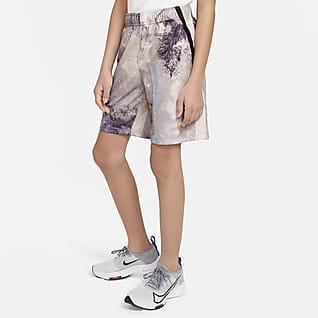 Nike Dri-FIT Σορτς προπόνησης με εφέ tie-dye για μεγάλα αγόρια