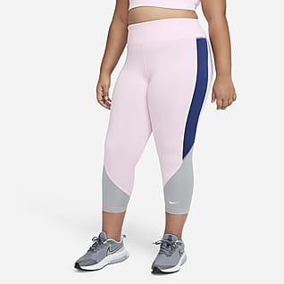 Nike Dri-FIT One Big Kids' (Girls') High-Rise Capri Leggings (Extended Size)
