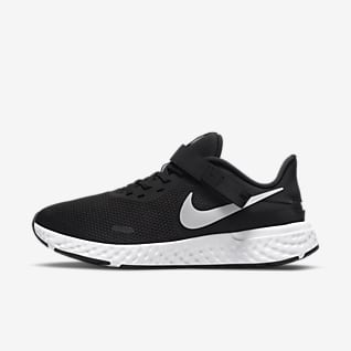 Nike Revolution 5 FlyEase Мужская удобная обувь для бега по шоссе (на очень широкую ногу)