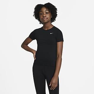 Nike Pro Rövid ujjú felső nagyobb gyerekeknek (lányok)