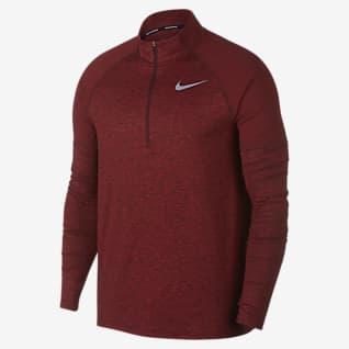 Nike Мужская беговая футболка с молнией на половину длины