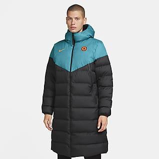 Chelsea FC Strike Мужская футбольная куртка с пуховым наполнителем Nike Therma-FIT
