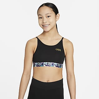 Nike Dri-FIT Trophy Спортивное бра для девочек школьного возраста