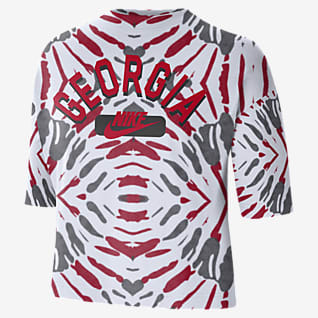 Nike College (Georgia) Women's Boxy Printed T-Shirt