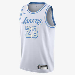 LeBron James Lakers City Edition Older Kids' Nike NBA Swingman Jersey