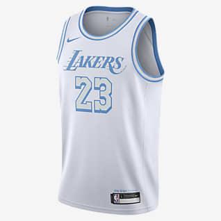LeBron James Lakers City Edition Maillot Nike NBA Swingman pour Enfant plus âgé