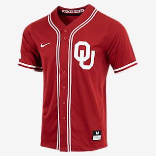 Nike College (Oklahoma) Men's Full-Button Baseball Jersey