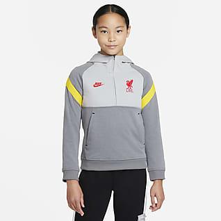 Liverpool F.C. Older Kids' 1/2-Zip Football Hoodie
