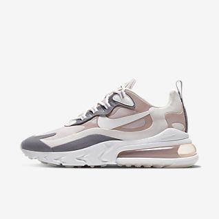 nike white & beige air max infinity trainers