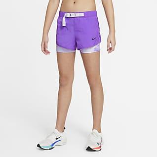 Nike Tempo Big Kids' (Girls') Tie-Dye Running Shorts