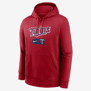 Nike Lettering Club (MLB Minnesota Twins) Men's Pullover Hoodie