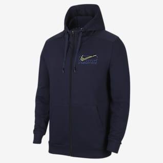 Nike Dri-FIT 男子印花全长拉链开襟训练连帽衫