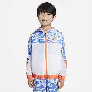 Nike Chamarra de tejido Woven y cierre completo para niños talla pequeña