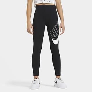 Nike Sportswear Favorites Leggings med grafik til store børn (piger)