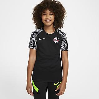 Club América Camiseta de fútbol de manga corta para antes del partido para niños talla grande