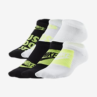 Nike Everyday Kids' Lightweight No-Show Socks (6 Pairs)