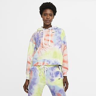 Nike Dri-FIT Get Fit Sudadera con gorro sin cierre de entrenamiento de teñido batik para mujer