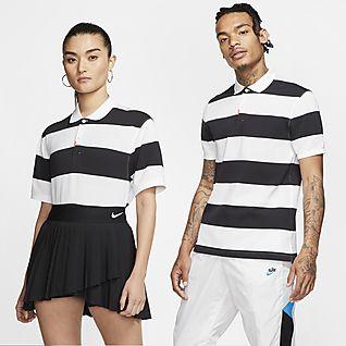 The Nike Polo Polo a rayas de ajuste entallado unisex