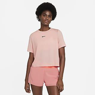NikeCourt Advantage Tennistop met korte mouwen voor dames