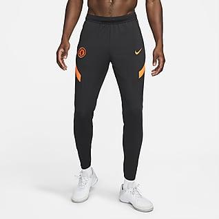 Chelsea FC Strike Nike Dri-FIT kötött férfi futballnadrág