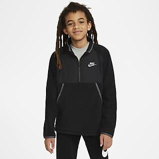 Nike Sportswear Mikina na zimu pro větší děti (chlapce) spolovičním zipem.