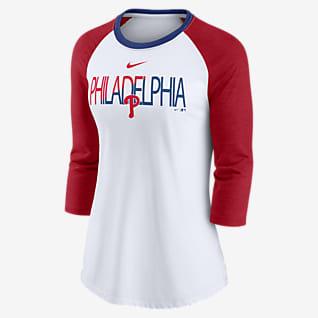 Nike Color Split (MLB Philadelphia Phillies) Women's 3/4-Sleeve T-Shirt