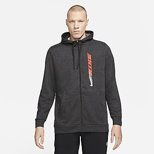 Nike Dri-FIT Sport Clash Hosszú cipzáras, mintás, kapucnis férfi edzőpulóver