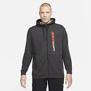 Nike Dri-FIT Sport Clash Męska bluza treningowa z zamkiem na całej długości i kapturem oraz nadrukiem