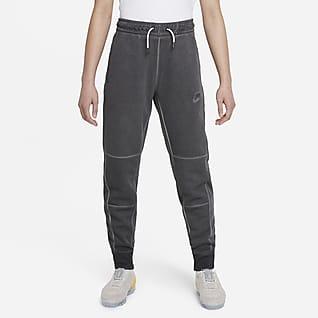 Nike Sportswear Pantalones de tejido de punto para niño talla grande