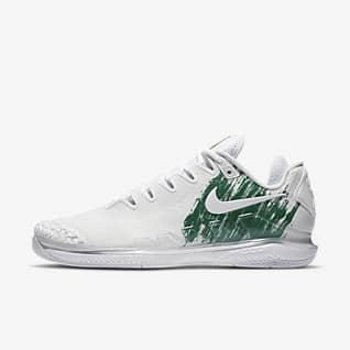 NikeCourt Air Zoom Vapor X Knit Мужская теннисная обувь для игры на кортах с твердым покрытием