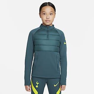 Tottenham Hotspur Academy Pro Winter Warrior Fotbalové tréninkové tričko Nike Therma-FIT pro větší děti