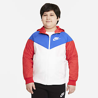 Nike Sportswear Windrunner Chamarra para niños talla grande (talla extendida)