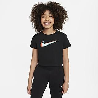 Nike Sportswear Avkortet danse-T-skjorte til store barn (jente)
