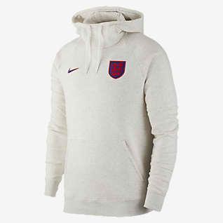 Inghilterra Felpa da calcio pullover con cappuccio in fleece - Uomo