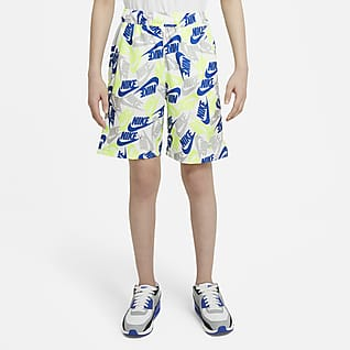 Nike Sportswear Geweven jongensshorts met print