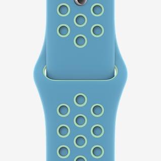Cloro azul/verde resplandor de 44 mm Correa deportiva Nike (regular)