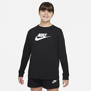 Nike Sportswear Långärmad t-shirt för ungdom (tjejer) (utökad storlek)