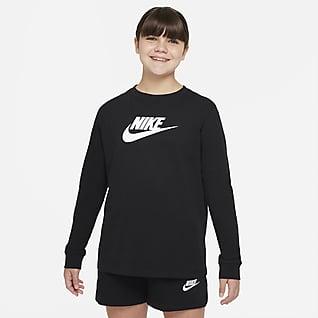 Nike Sportswear Langermet T-skjorte til store barn (jente) (utvidet størrelse)