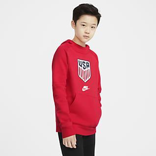 U.S. Big Kids' Fleece Pullover Soccer Hoodie